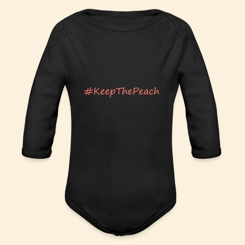 Hashtag KeepThePeach Corail - Body Bébé bio manches longues