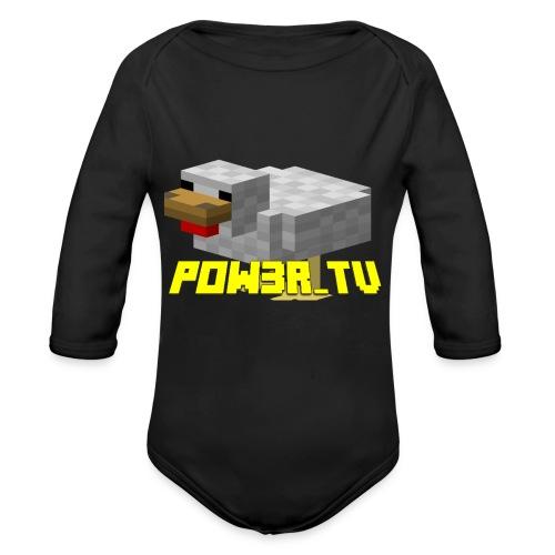 POW3r-peluche - Body ecologico per neonato a manica lunga