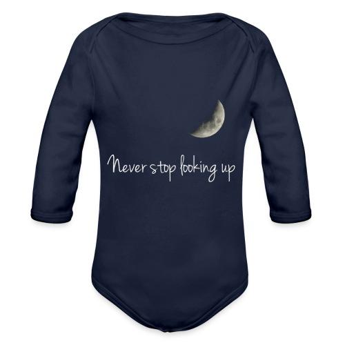 Never stop looking up - Organic Longsleeve Baby Bodysuit
