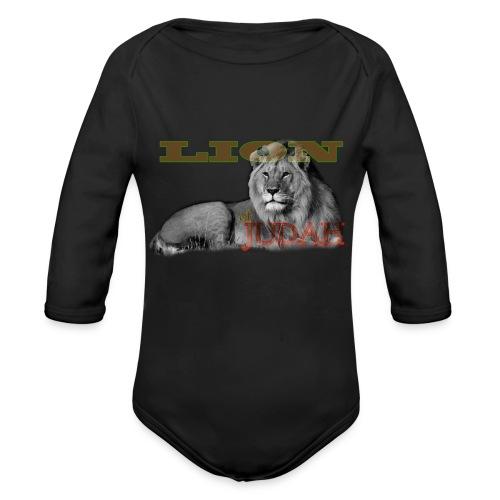 Lrg Judah Tribal Gears - Organic Longsleeve Baby Bodysuit