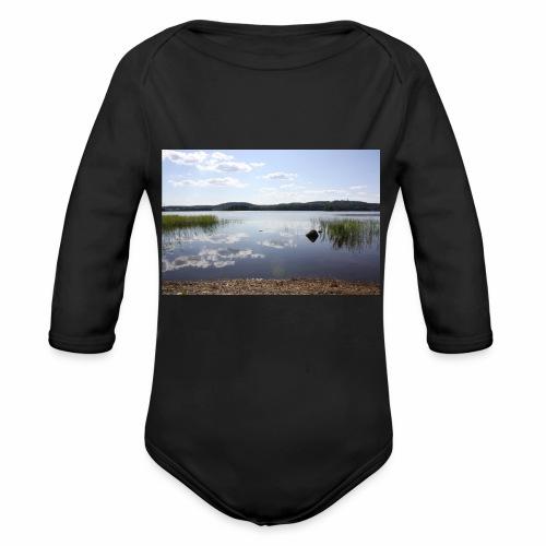 landscape - Organic Longsleeve Baby Bodysuit