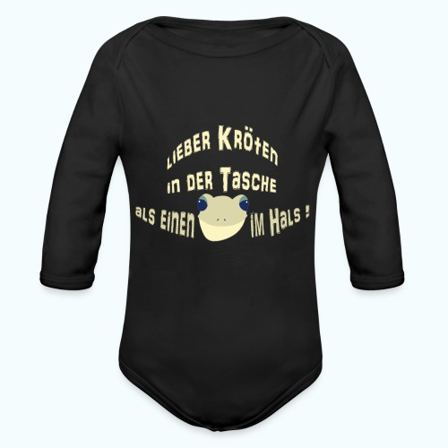 Lieber Kröten in der Tasche - Organic Longsleeve Baby Bodysuit