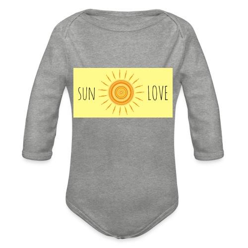 Sun Love - Organic Longsleeve Baby Bodysuit