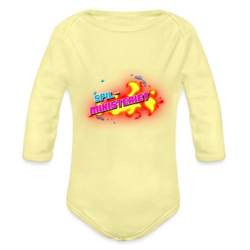 Spilministeriet - Langærmet babybody, økologisk bomuld