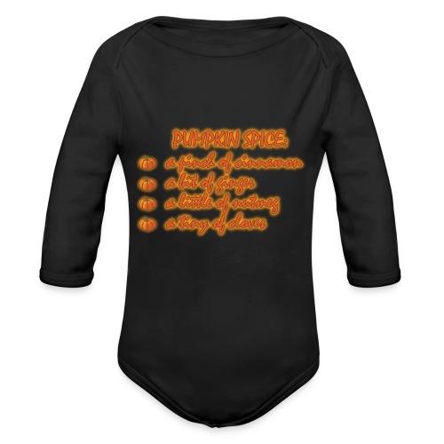 PumpkinSpiceRecipe - Body ecologico per neonato a manica lunga