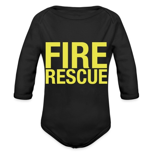Fire and Rescue - Organic Longsleeve Baby Bodysuit