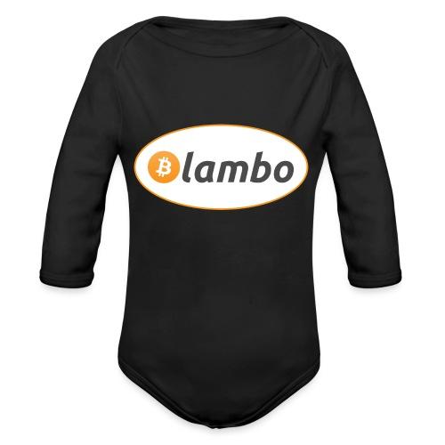 Lambo - option 1 - Organic Longsleeve Baby Bodysuit