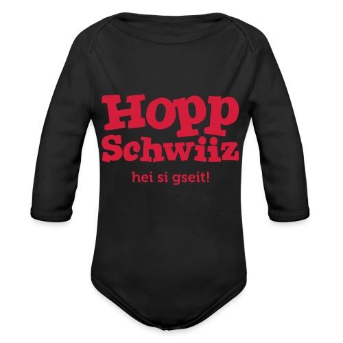 Hopp-Schwiiz hei si gseit - Baby Bio-Langarm-Body