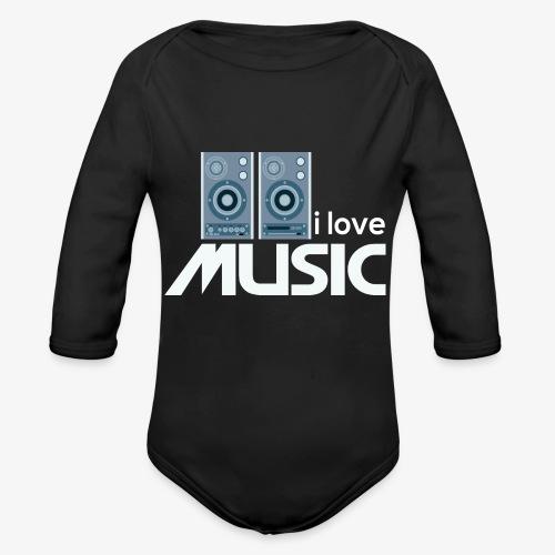 Amo la música 02 - Body orgánico de manga larga para bebé