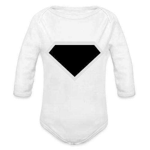 Diamond Black - Two colors customizable - Baby bio-rompertje met lange mouwen