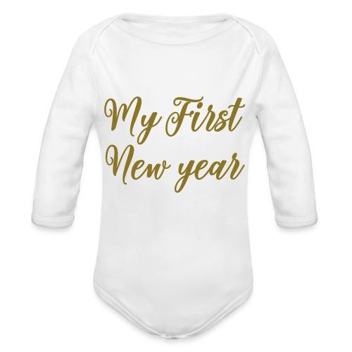 First new year - Baby bio-rompertje met lange mouwen