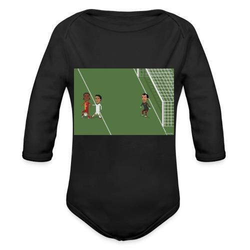 Backheel goal BG - Organic Longsleeve Baby Bodysuit