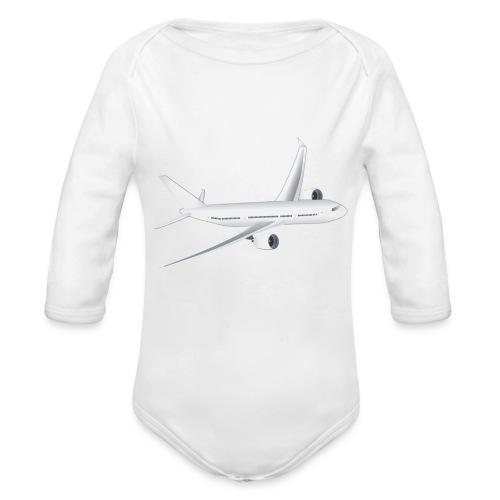 Flugzeug - Baby Bio-Langarm-Body
