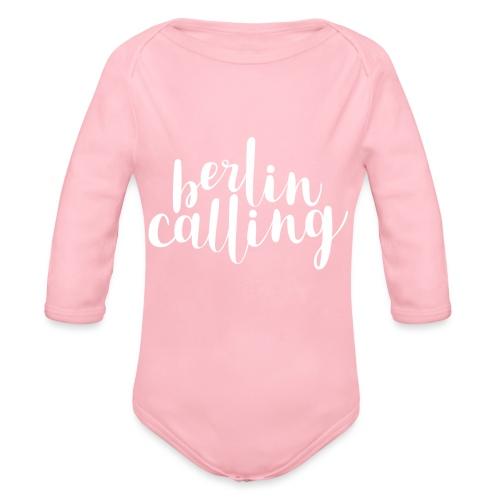 Berlin Calling - Baby Bio-Langarm-Body