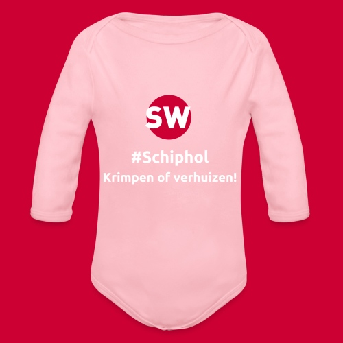 #Schiphol - krimpen of verhuizen! - Baby bio-rompertje met lange mouwen