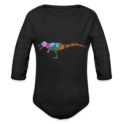 DINOSAUR - Organic Longsleeve Baby Bodysuit