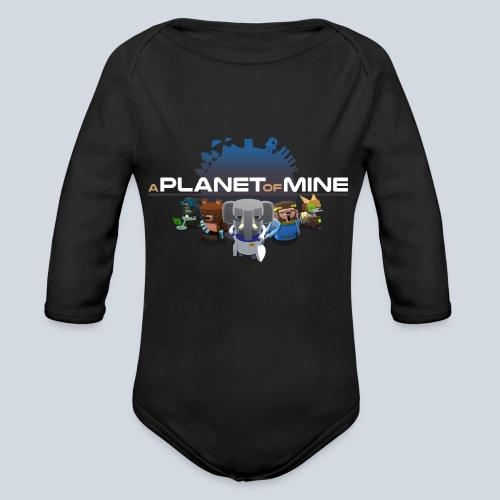 logo planetofmine dark HD - Body Bébé bio manches longues