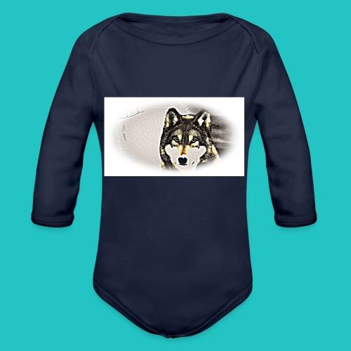 Bluza Wilk - Ekologiczne body niemowlęce z długim rękawem