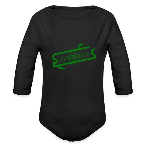 Solidgames Crewneck Grey - Organic Longsleeve Baby Bodysuit