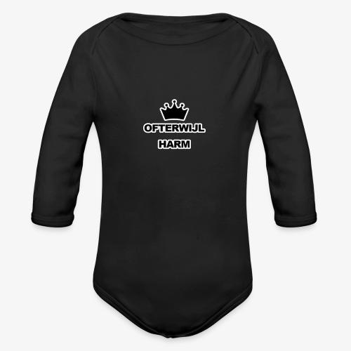 logo png - Baby bio-rompertje met lange mouwen