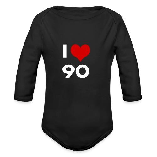 I love 90 - Body ecologico per neonato a manica lunga