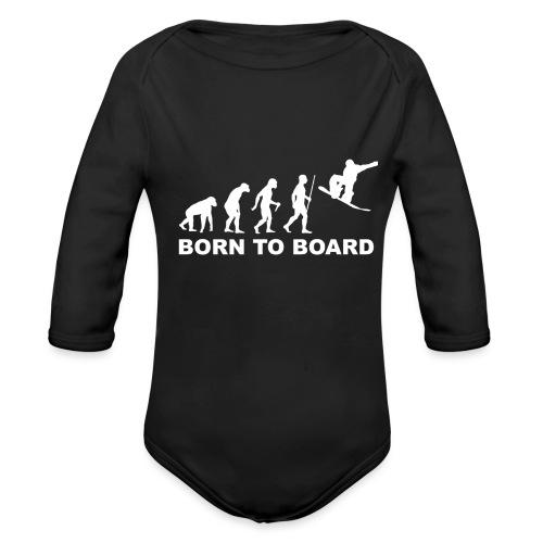 Board_wit - Baby bio-rompertje met lange mouwen