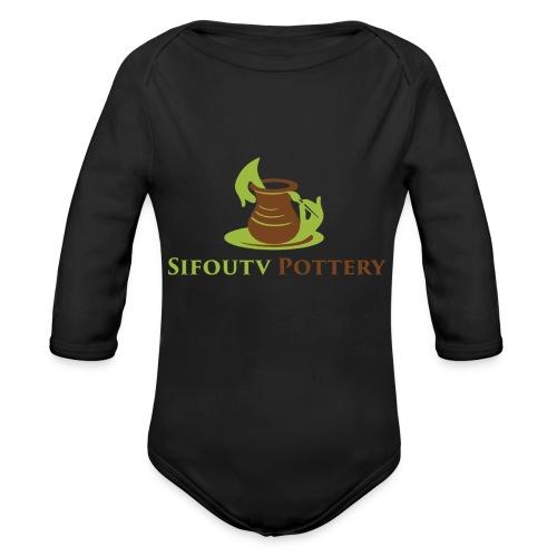 Sifoutv Pottery - Organic Longsleeve Baby Bodysuit