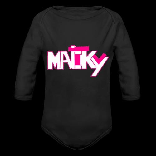 MaickyTv Pink - Baby Bio-Langarm-Body