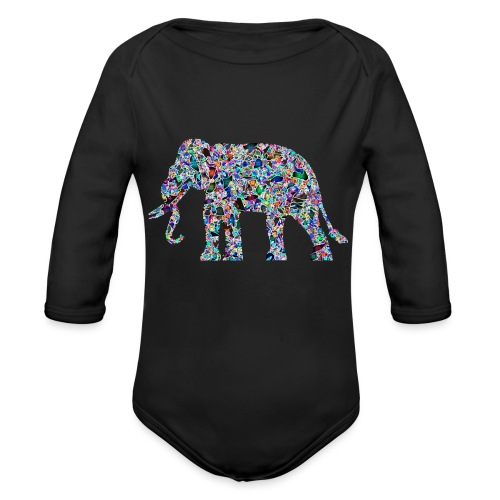 Elephant - Organic Longsleeve Baby Bodysuit