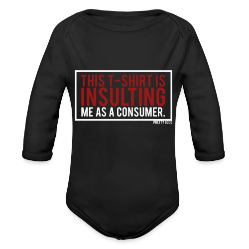 INSULTING. - Organic Longsleeve Baby Bodysuit
