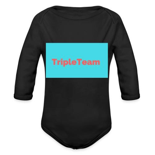 TripleTeam Logo - Baby bio-rompertje met lange mouwen