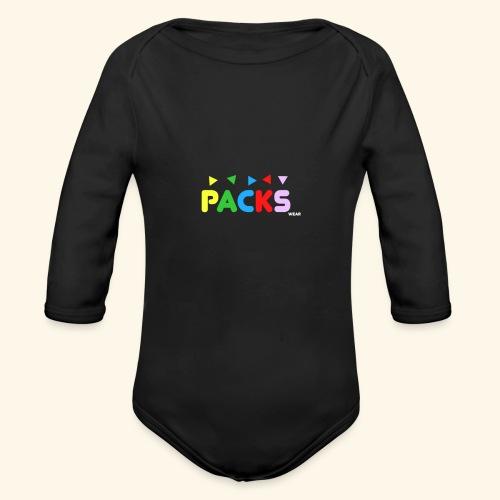 PACKSwear Logo Hoodie - Langærmet babybody, økologisk bomuld