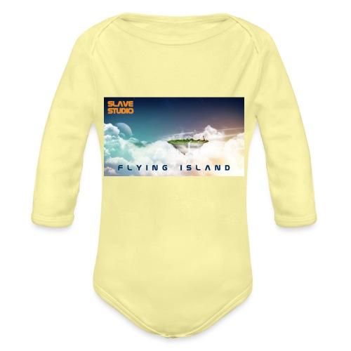 flying island - Body ecologico per neonato a manica lunga