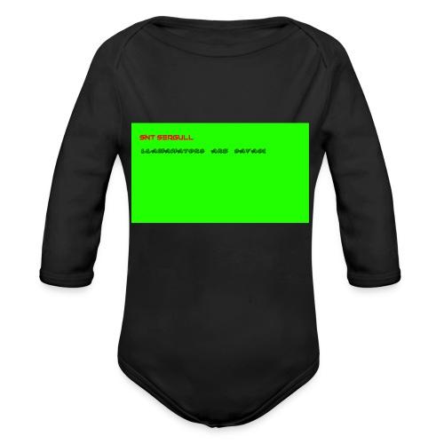 LLAMANATORS = SAVAGE - Organic Longsleeve Baby Bodysuit