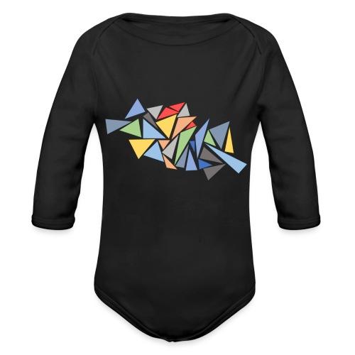 Modern Triangles - Organic Longsleeve Baby Bodysuit
