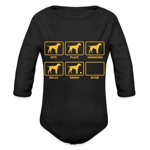 Für alle Hundebesitzer mit Humor - Baby Bio-Langarm-Body