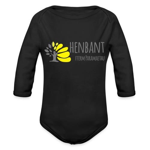 henbant logo - Organic Longsleeve Baby Bodysuit