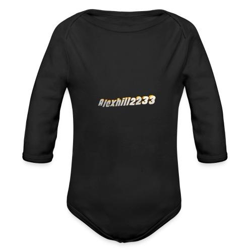 Alexhill2233 Logo - Organic Longsleeve Baby Bodysuit