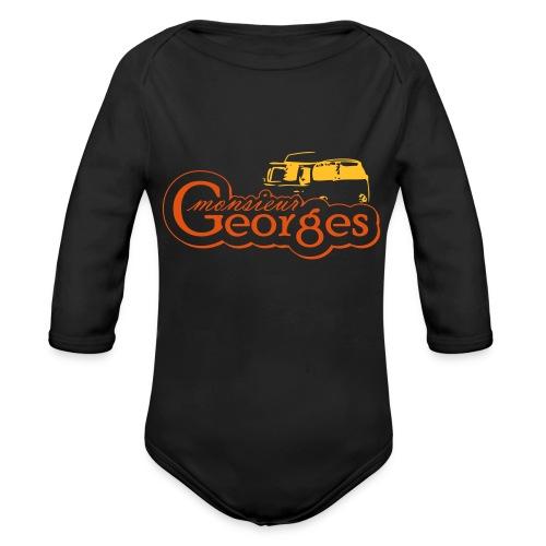 monsieur georges2 - Baby bio-rompertje met lange mouwen