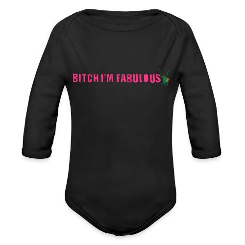 Bitch, I'm fabulous modliszka, długie - Ekologiczne body niemowlęce z długim rękawem