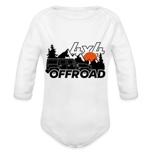 Offroad 4x4 Jeep Logo - Baby Bio-Langarm-Body
