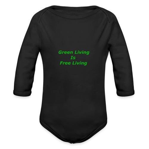 Green Living - Langærmet babybody, økologisk bomuld