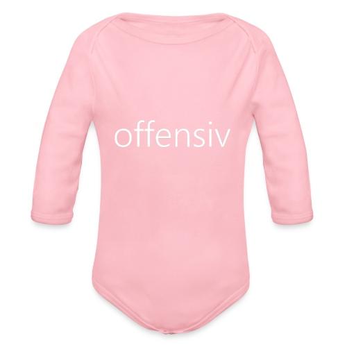 offensiv t-shirt (børn) - Langærmet babybody, økologisk bomuld