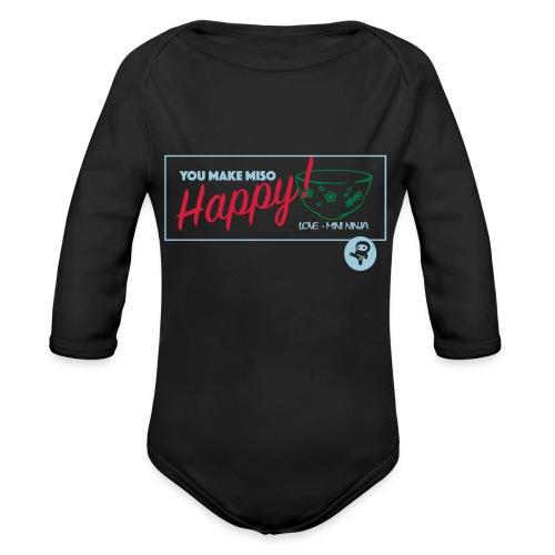 You make miso happy :) - Organic Longsleeve Baby Bodysuit