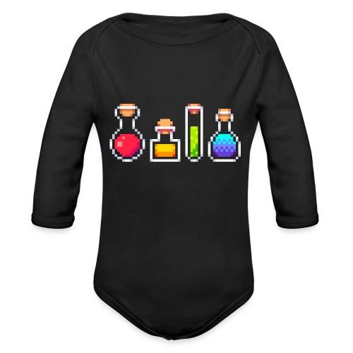 RPG Potions - Langærmet babybody, økologisk bomuld