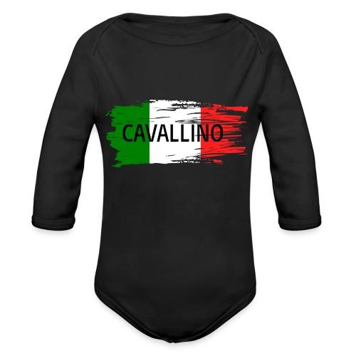 Cavallino auf Flagge - Baby Bio-Langarm-Body