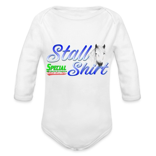 Special Edition Stall Shirt Reiten Geschenkidee - Baby Bio-Langarm-Body