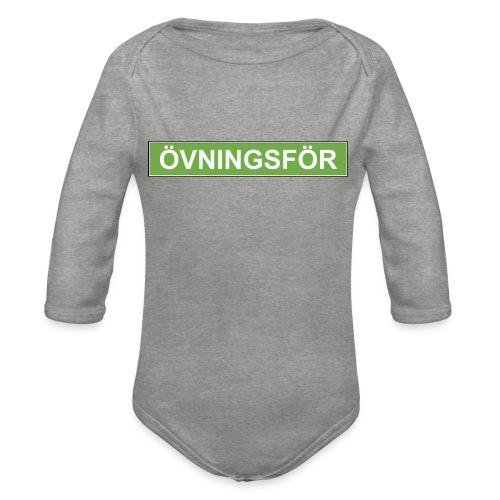 ÖVNINGSFÖR - Ekologisk långärmad babybody