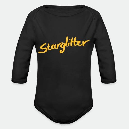 Starglitter - Lettering - Organic Longsleeve Baby Bodysuit