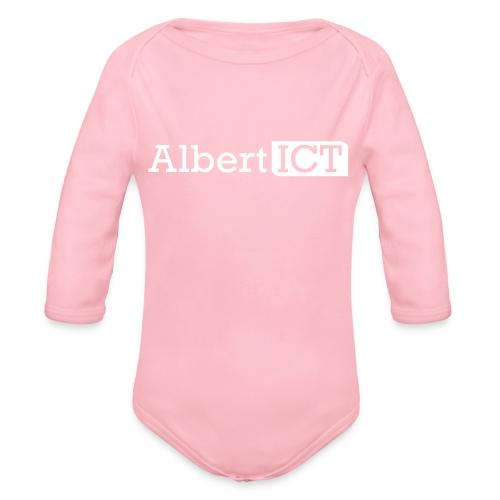 AlbertICT wit logo - Baby bio-rompertje met lange mouwen